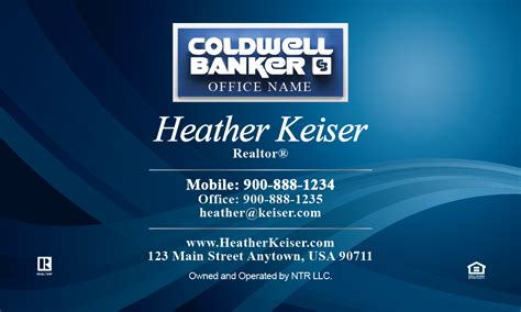 coldwell banker business cards template beautiful blue coldwell banker business card design 104091