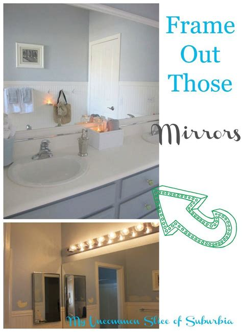 frame out your large bathroom mirrors with molding for a frame out your large bathroom mirrors with molding for a