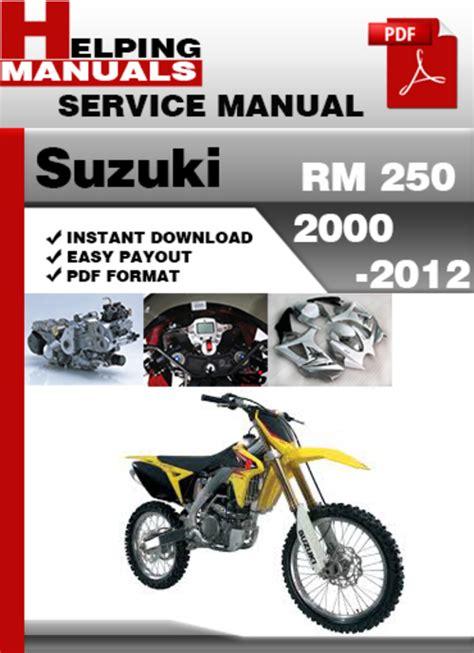 helping manuals suzuki rm 250 2003 2012 service repair manual