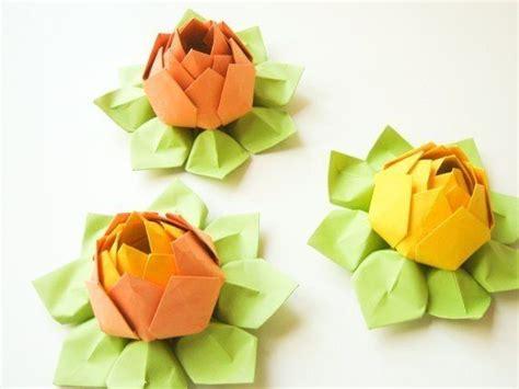 how to make origami lotus flower diy origami lotus flower