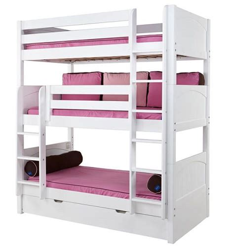 twin size bunk bed mattress stella twin size triple bunk beds just for my kiddos
