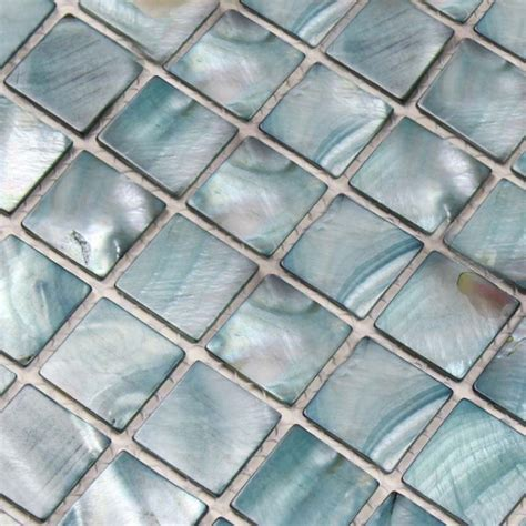 Penny Kitchen Backsplash Shell Tiles 100 Grey Seashell Mosaic Mother Of Pearl