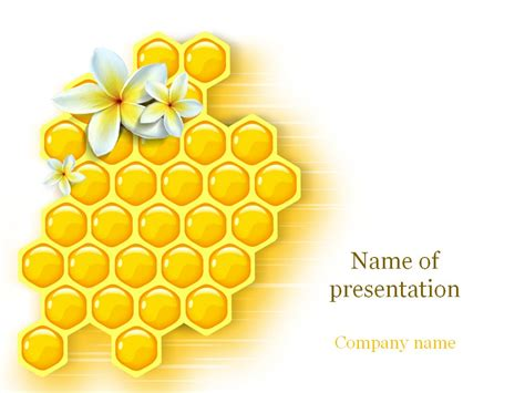 sweet honey powerpoint template templates pinterest