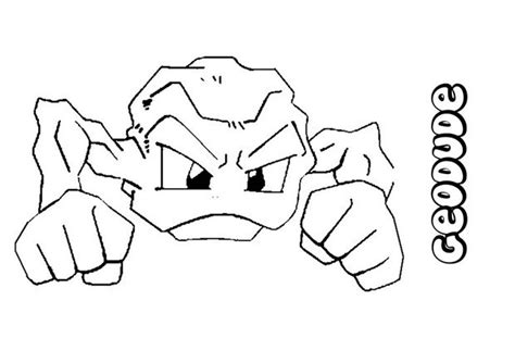 Geodude Coloring Pages Hellokids Com