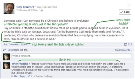 ray comfort facebook the water table is an atheist conspiracy