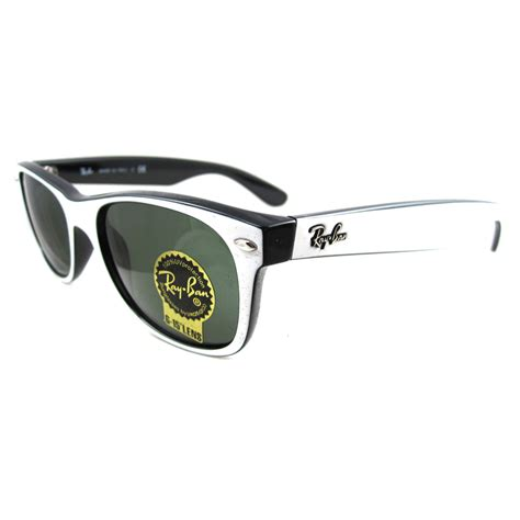 black and white ray ban wayfarers ray ban sunglasses new wayfarer 2132 770 white black ebay