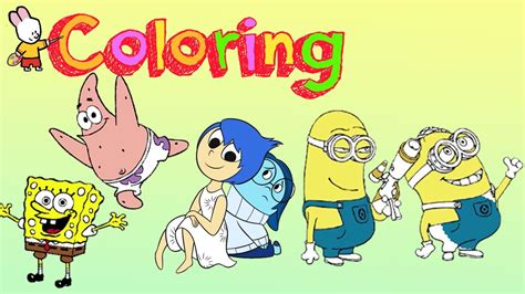 sponge bob inside out minions coloring pages 2