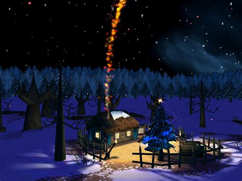 chritmas night 3d screensaver visit santa s house and let