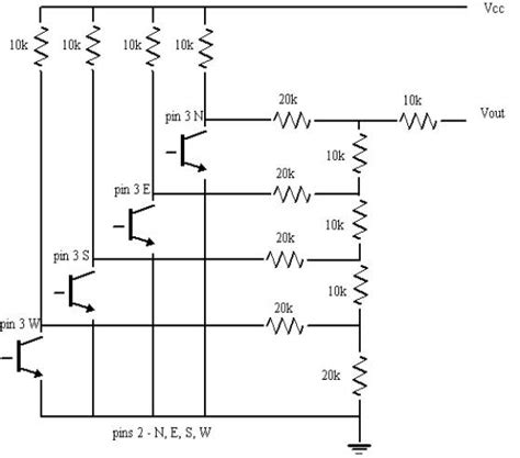 resistor only circuit how to add a digital compass to the pprk