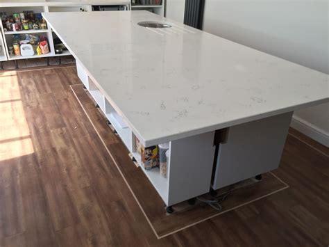 Quartz Worktops Gloss White Bianco Carrara Marble Quartz Worktops