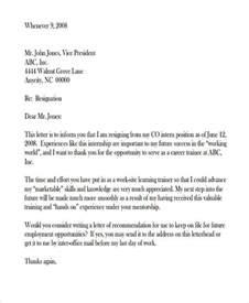 Resignation Letter Heading by 49 Resignation Letter Exles