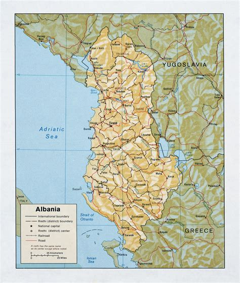 political map of albania large detailed political and administrative map of albania