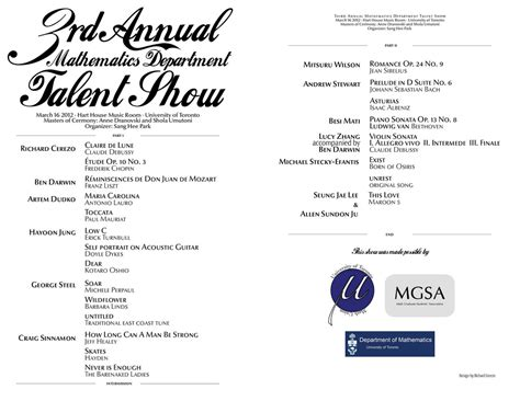 talent show program template the gallery for gt talent show program template