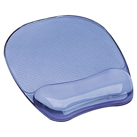 Mouse Mat With Wrist Support by Fellowes Mouse Mat With Wrist Rest Support Blue