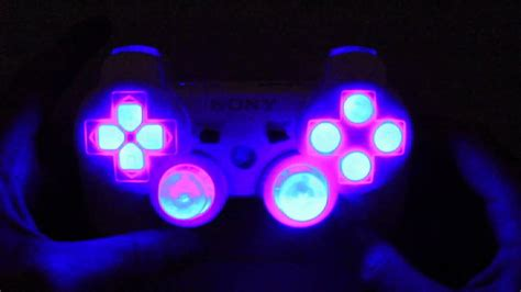 ps3 controller light codes mrmodz ps3 modded controller with led button patters