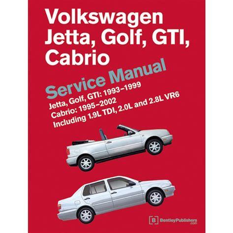 Volkswagen Golf Jetta Gti Cabrio Mk3 1993 1999 Service
