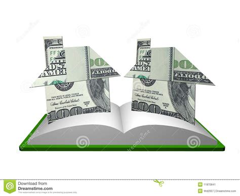 Origami Pop Up Book - money house origami pop up from a book stock image image