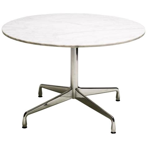 Charles Eames Dining Table Charles And Eames Carrara Marble Segmented Base Dining Table At 1stdibs
