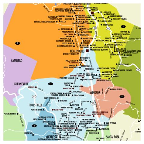 sonoma winery map 8 24 13 8 25 13 the other wine country sonoma county eat play and work out