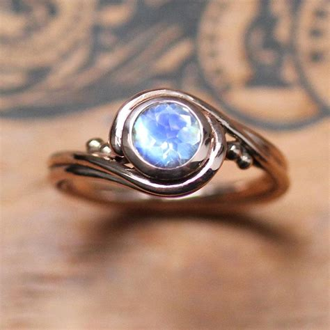 gold moonstone ring unique engagement ring with