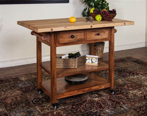 rustic oak butcher block kitchen island cart oak kitchen 109 best kitchen carts images on pinterest kitchen carts