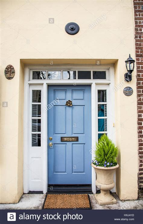 light blue front door vintage light blue door with a front door knocker and