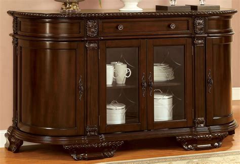 Bellagio English Style Brown Cherry Finish Buffet Server