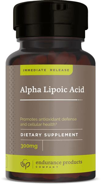 Acid Release In The From Detoxing by Alpha Lipoic Acid Supplement 300mg Endur Endurance