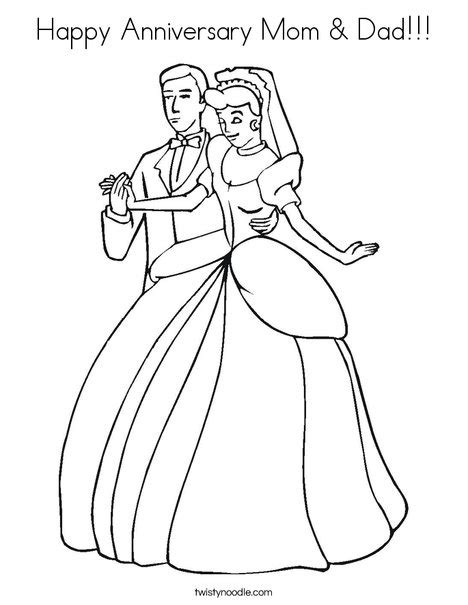 christmas coloring pages for mom and dad happy anniversary mom dad coloring page twisty noodle