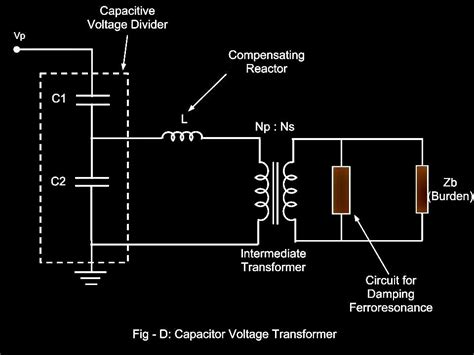 capacitor voltage transformer circuit electrical systems voltage transformer