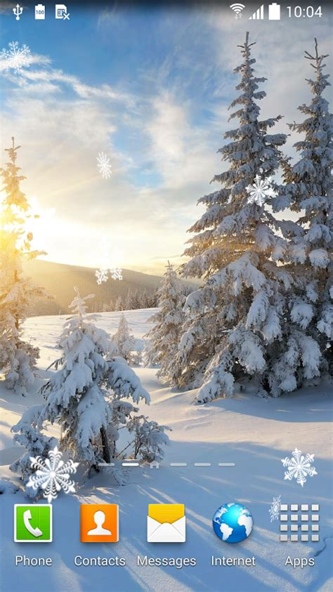 winter wallpaper for android top 7 beautiful winter snow live wallpapers for android