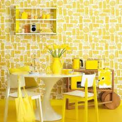 Yellow Dining Room Ideas Retro Yellow Dining Room Colourful Decorating Ideas