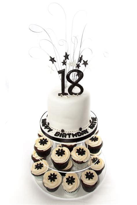 black and white birthday cake black and white 18th birthday cake cupcake tower