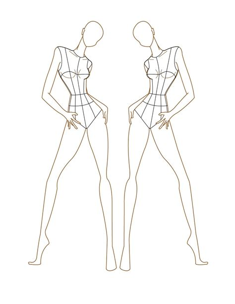 sketch model template fashion croquis on croquis templates and how