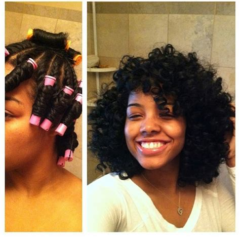 permanent curls for black hair twist n curl with perm rods gorgeous http blackhair