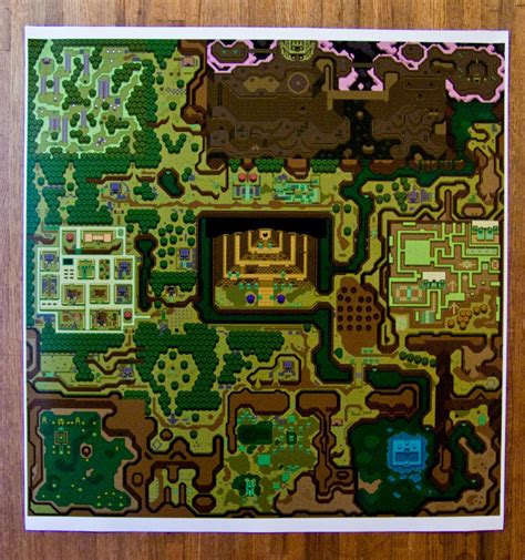 legend of zelda map for sale hyrule legend of zelda a link to the past dark world 24