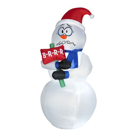 Halloween Home Decor Catalogs animated inflatable shivering snowman the green head
