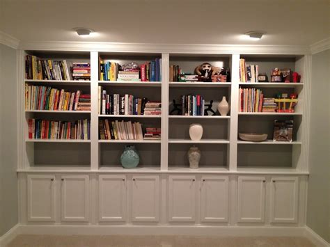 Ideas For Build White Bookcase With Doors The Wooden Houses White Wall Bookcase