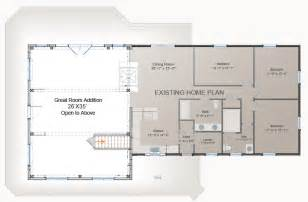 Home Additions Floor Plans Waterview Great Room Addition Post And Beam Floor Plan