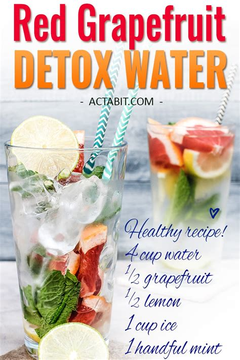 Grapefruit And Lemon Juice Detox Weight Loss by 6 Detox Water Recipes For Weight Loss And Clear Skin