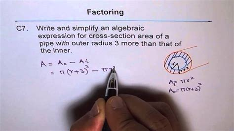 how to calculate cross sectional area of pipe cross section area of pipe c7 youtube