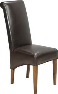 Brown Leather Dining Room Chairs Cuba Sheesham Brown Leather Dining Chair Oak Furniture