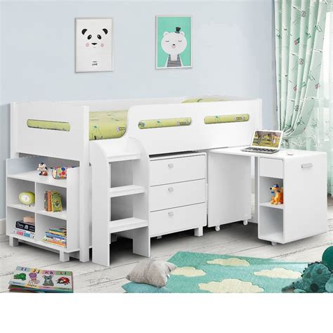 Mid Sleeper Beds by Kimbo White Mid Sleeper Cabin Bed