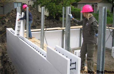 Icf Foundations A Good Bet For Modern Homes Winnipeg Styrofoam Basement Forms