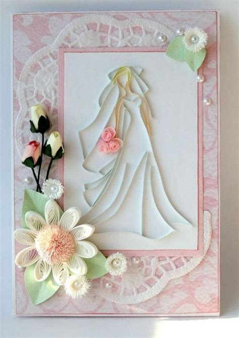 Paper Card Ideas - quilling wedding card quilling eventos