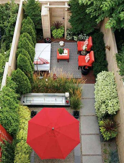 modern small backyard modern tiny backyard design