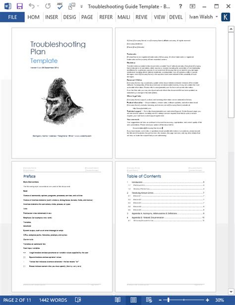looking for a troubleshooting guide template ms word troubleshooting guide template technical writing tips