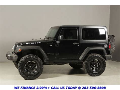 Black Jeep Wrangler 2 Door 2008 Jeep Wrangler Rubicon 4x4 Hardtop Nav 18 Quot Moto Alloys