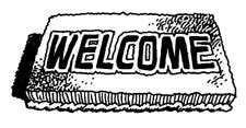 Black And White Welcome Mat Graphics By Welcome Signs Clipart