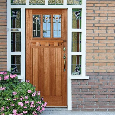 Tuscan Front Doors Tuscany Hardwood Door With Tulip Style Tri Glazing